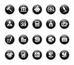 Vector icons set in glossy black buttons. Stock Photo - Royalty-Free, Artist: Palsur                        , Code: 400-04393317