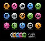 The vector file includes 5 color versions for each icon in different layers. Stock Photo - Royalty-Free, Artist: Palsur                        , Code: 400-04393320