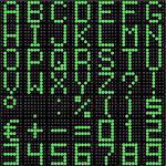 3D dot-matrix font with reflection. Image generated in 3D application. Stock Photo - Royalty-Free, Artist: Aleksan                       , Code: 400-04393868