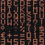 3D dot-matrix font with reflection. Image generated in 3D application. Stock Photo - Royalty-Free, Artist: Aleksan                       , Code: 400-04394040