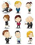 cartoon office workers icon