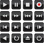 Multimedia control glossy icon/button set for web, applications, electronic and press media Stock Photo - Royalty-Free, Artist: mmar                          , Code: 400-04397450