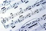 Music sheet on the white background Stock Photo - Royalty-Free, Artist: johnkwan                      , Code: 400-04397669