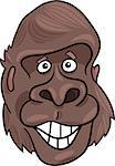 cartoon illustration of funny gorilla ape Stock Photo - Royalty-Free, Artist: izakowski                     , Code: 400-04397726