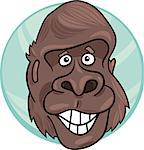 cartoon illustration of funny gorilla ape Stock Photo - Royalty-Free, Artist: izakowski                     , Code: 400-04397727