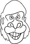 cartoon illustration of gorilla ape for coloring book Stock Photo - Royalty-Free, Artist: izakowski                     , Code: 400-04397728