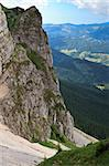 a mountain slope in Piatra Craiului Mountains, Romania Stock Photo - Royalty-Free, Artist: porojnicu                     , Code: 400-04398547