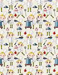 seamless cartoon chef pattern Stock Photo - Royalty-Free, Artist: notkoo2008                    , Code: 400-04398621