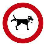 This image shows a information sign from dogs Stock Photo - Royalty-Free, Artist: Ragnar                        , Code: 400-04398847