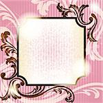 Elegant pink and brown transparent banner design inspired by French rococo style. Graphics are grouped and in several layers for easy editing. The file can be scaled to any size. Stock Photo - Royalty-Free, Artist: KarolinaL                     , Code: 400-04401315