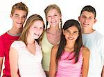 Five friends together smiling Stock Photo - Royalty-Free, Artist: MonkeyBusinessImages          , Code: 400-04402298