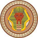 Stylization a background with the pharaoh of Egypt in a vector Stock Photo - Royalty-Free, Artist: nikolaich                     , Code: 400-04403745