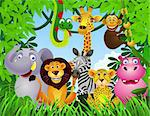 vector illustration of animal cartoon Stock Photo - Royalty-Free, Artist: dagadu                        , Code: 400-04403772