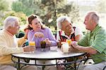 Friends Enjoying A Beverage By A Golf Course Stock Photo - Royalty-Free, Artist: MonkeyBusinessImages          , Code: 400-04404248