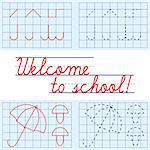 Welcome to school card, vector illustration Stock Photo - Royalty-Free, Artist: MarketOlya                    , Code: 400-04404529