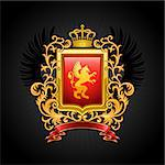 Coat of arms. Vector illustration. Stock Photo - Royalty-Free, Artist: CelloFun                      , Code: 400-04404551