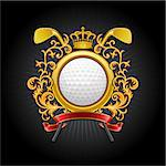 ?oat of arms. Golf symbol. Vector illustration. Stock Photo - Royalty-Free, Artist: CelloFun                      , Code: 400-04404560