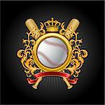 ?oat of arms. Baseball symbol. Vector illustration. Stock Photo - Royalty-Free, Artist: CelloFun                      , Code: 400-04404587