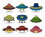 cartoon ufo spaceship icon set   Stock Photo - Royalty-Free, Artist: notkoo2008                    , Code: 400-04405326
