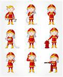 cartoon Fireman icon set   Stock Photo - Royalty-Free, Artist: notkoo2008                    , Code: 400-04405328