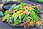 assortment healthy vegetables in basket Stock Photo - Royalty-Free, Artist: jordache                      , Code: 400-04405369