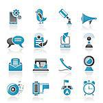Mobile Phone and communication icons - vector icon set Stock Photo - Royalty-Free, Artist: stoyanh                       , Code: 400-04405956