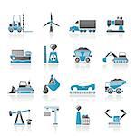 Business and industry icons - vector icon set Stock Photo - Royalty-Free, Artist: stoyanh                       , Code: 400-04405958
