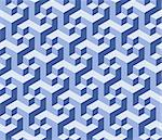 Vector art blue Background. Abstract cubes art background 3d Stock Photo - Royalty-Free, Artist: antuanetto                    , Code: 400-04407312