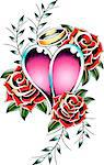 gorgeous heart fancy tattoo Stock Photo - Royalty-Free, Artist: pauljune                      , Code: 400-04407387