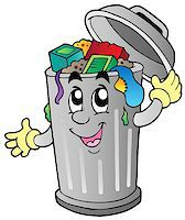 Cartoon trash can - vector illustration. Stock Photo - Royalty-Freenull, Code: 400-04407789