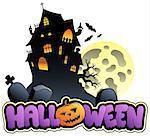 Halloween sign and image 2 - vector illustration. Stock Photo - Royalty-Free, Artist: clairev                       , Code: 400-04407820