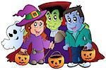Halloween trick or treat characters - vector illustration. Stock Photo - Royalty-Free, Artist: clairev                       , Code: 400-04407821