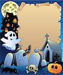 Parchment with Halloween topic 2 - vector illustration. Stock Photo - Royalty-Free, Artist: clairev                       , Code: 400-04407825