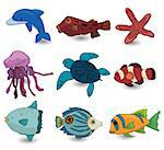 cartoon fish icon   Stock Photo - Royalty-Free, Artist: notkoo2008                    , Code: 400-04407911