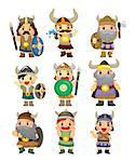 cartoon Viking Pirate icon set Stock Photo - Royalty-Free, Artist: notkoo2008                    , Code: 400-04407912