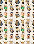 cartoon vikings pirate seamless pattern Stock Photo - Royalty-Free, Artist: notkoo2008                    , Code: 400-04407953
