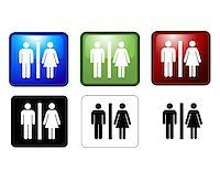 vector illustration of Women's and Men's Toilets Stock Photo - Royalty-Freenull, Code: 400-04408089