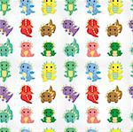 cartoon fire dragon seamless pattern Stock Photo - Royalty-Free, Artist: notkoo2008                    , Code: 400-04408633