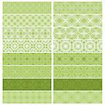 Green trim or border collection over white background Stock Photo - Royalty-Free, Artist: karanta                       , Code: 400-04409317