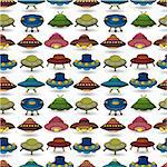 cartoon ufo spaceship seamless pattern   Stock Photo - Royalty-Free, Artist: notkoo2008                    , Code: 400-04409673