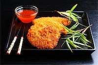Fried chili chicken breast with hot dip Stock Photo - Royalty-Freenull, Code: 400-04409931