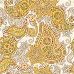 vector seamless hand drawn paisley pattern, clipping masks Stock Photo - Royalty-Free, Artist: alexmakarova                  , Code: 400-04410299