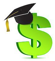 education loan - Education and dollar sign Stock Photo - Royalty-Freenull, Code: 400-04411993