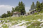 An old little stone church on Parnassos Mountain, central Greece Stock Photo - Royalty-Free, Artist: alexandr6868                  , Code: 400-04412104