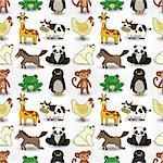 cartoon animal seamless pattern Stock Photo - Royalty-Free, Artist: notkoo2008                    , Code: 400-04412573