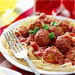 hearty spaghetti dinner Stock Photo - Royalty-Free, Artist: hojo                          , Code: 400-04414142