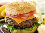 hamburger meal Stock Photo - Royalty-Free, Artist: hojo                          , Code: 400-04414145