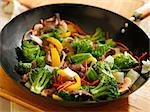 wok stir fry Stock Photo - Royalty-Free, Artist: hojo                          , Code: 400-04414156