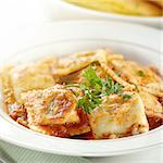 ravioli with garnish Stock Photo - Royalty-Free, Artist: hojo                          , Code: 400-04414160