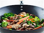 colorful stir fry closeup Stock Photo - Royalty-Free, Artist: hojo                          , Code: 400-04414179
